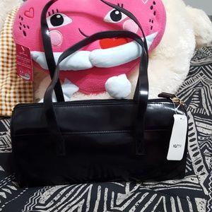 Black narrow duffle bag